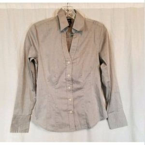 Gap Stretch Gray Button Front Top XS